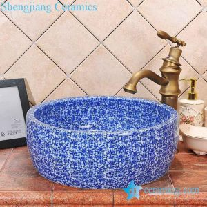 ZY-0056 Drum waist shape ceramic counter top wash basin big size