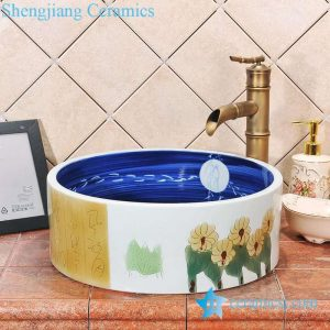ZY-0058 Round ceramic outdoor washbain for hotel