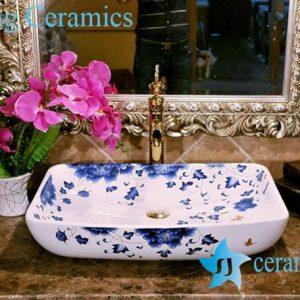 ZY-0069 Shallow rectangular ceramic hand wash basin cheap price