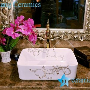 ZY-0074 Rectangular ceramic vitreous china corner wash basin
