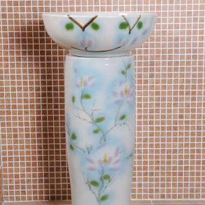 ZY-0099 Middle east style luxury modern hotel restaurant club toilet ceramic pedestal sink basin