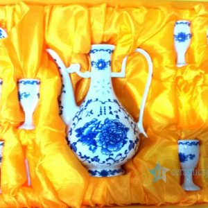 RYGN20-B Ceramic rice grain decoration Wine pot and cups