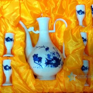 RYGN20-C Blue and white wine liquor set