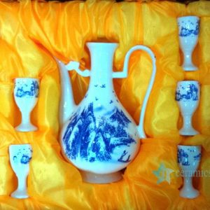 RYGN20-F Blue and white Chinese style liquor set