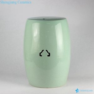 RYIR115 turquoise ceramic garden stool