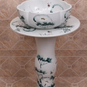 ZY-0112 China hot sale cheap price gorgeous ceramic vitreous enamel pedestal sink lavatory sink bowl