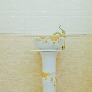 ZY-0115 jingdezhen ceramic bathroom supplies washroom items fancy white ceramic pedestal sanitary ware