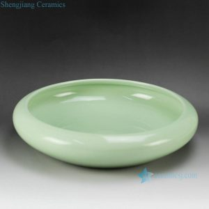 RYIQ27-A Celadon light green bright surface ceramic glazed planter