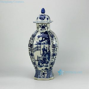 RYJF38-OLD Blue and white vintage Chinese porcelain jar