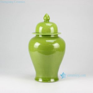 RYKB117-J Plain color glazed lidded ginger jar