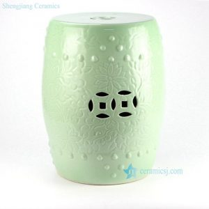 RYKB137-A RYKB137-B Solid color embossment ceramic counter stool
