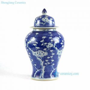 RYLU87 Hand painted plum blossom pattern ginger jar patio furniture