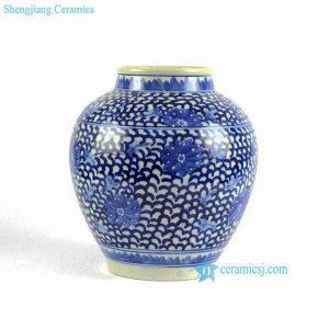 RYLU88 Hand painted blue and white chinese ceramic urn and pot
