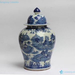 RYLU90 Water town in southern land pattern hand paint chinese jars antique
