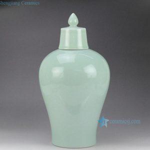 RYNQ178-A/B Plain color glazed chinese porcelain temple jars for sale