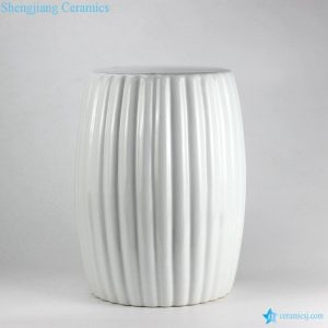 RYNQ185 White pleated ceramic patio seat
