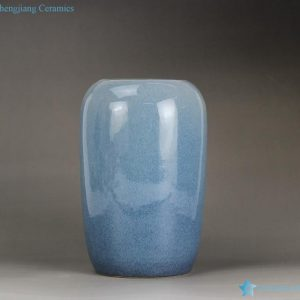 RYNQ189 Color reactive glazed elegant blue home deco porcelain jar and vase