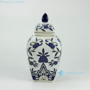 RYPU28 Dark blue Moroccan ceramic fancy jar