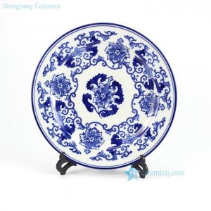 RYPU33-A Hot sale Jingdezhen Blue and white ceramic plate