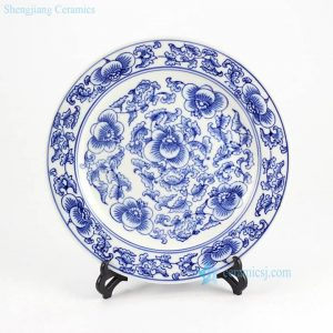 RYPU33-B Wholesale price blue and white porcelain display tray