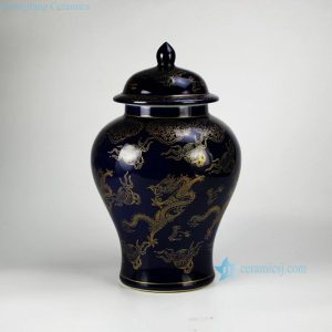 RYRJ15 Golden dragon pattern craig blue exquisite home furniture ginger jar