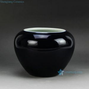 RYRQ03 High temperature fired craig blue glaze water pot