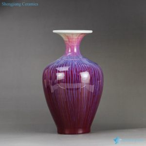 RYVZ 15 Wire drawing transmutation glazed wide open mouth narrow neck big vases for living room