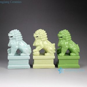 RYXP21-C Solid color chinaware lion figurine