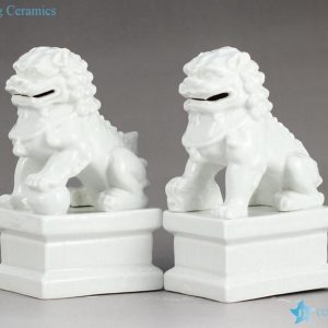 RYXP21-H/I/J/K Plain color porcelain lion figurine