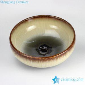 RYXW-YL-DZ-06 Transmutation glazed pure simple ceramic colored toilet bowl