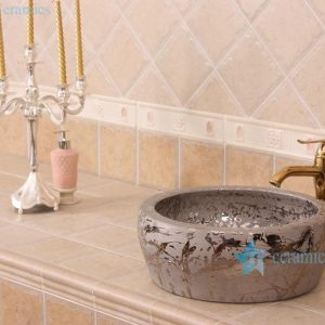 RYXW698 Silver thicken layer indoor porcelain wash face basin
