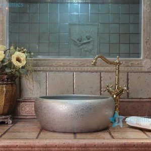 RYXW702 Silver color floral stamping water closet top chinaware sink