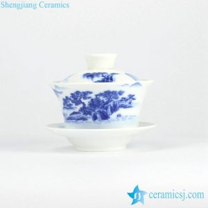 RYYY38-B Chinaware blue and white covered teacup