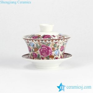 RYYY38-D Colorful elegant flower pattern chinaware tureen