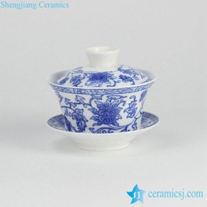 RYYY38-G Blue and white elegant ceramic tureen