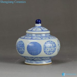 RZBP03-C Light blue and white porcelain japanese style collectible storage small jar