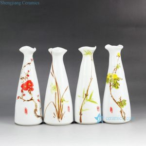 RZEA01-J Hand paint herbal pattern cute flower vases