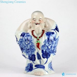 RZEW03 hand painted good fortune moral ceramic Smiling Buddha