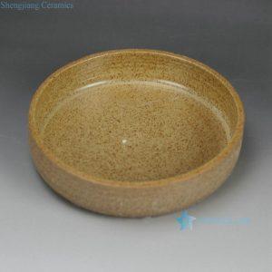 RZFZ-B-03 Handmade pottery chinaware round dish bowl