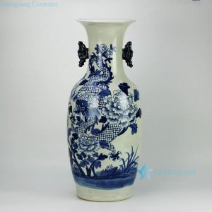 RZFZ04-F Fairy dragon design hand paint blue and white ceramic wedding vases