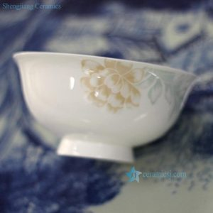 RZHF01-A Fine bone china floral pattern bright surface low price dinnerware bowl