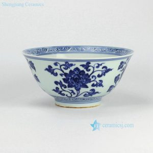 RZHL01-B Jingdezhen China supplier Hand paint floral pattern display bowl