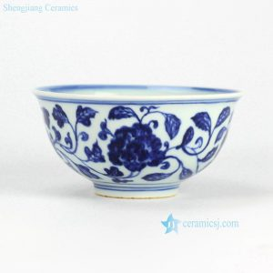 RZHL03-A Round hand paint floral pattern blue and white ceramic dinnerware