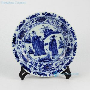 RZHL04-A Elegant blue and white hand painted ceramic serving dishes