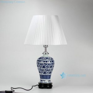 DS37-ZFU Slender blue and white floral pattern cheap desk lamp
