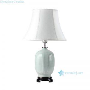 DS39-MA Bamboo stripe design celadon glaze oriental ginger jar lamps