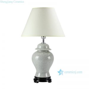 DS47-RYZR Promotional Ge Kiln crackle glaze ceramic reading lamp