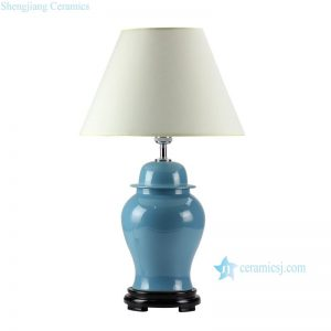 DS53-RYNQ Aegean blue glaze ceramic modern table lamp