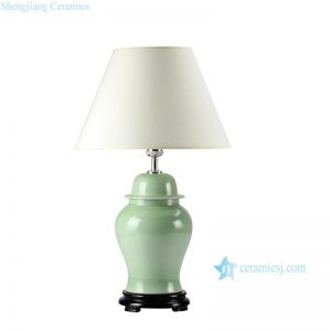 DS55-RYNQ Lime green glaze oriental ceramic table lamp