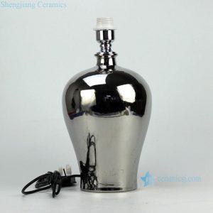 DS69-A-RYNQ Silver glaze wholesale ceramic ginger jar lamp